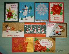 Papírvilág: handmade Christmas cards / kézműves karácsonyi üdvözletek. tarjetas para felicitar.