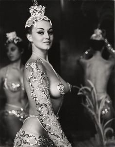 Parisian Latin Quarter Chorus Girl - Photo By Peter Basch 1950's