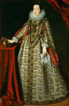 Justus Sustermans (1597–1681) Eleonore von Gonzaga (1598-1655), 2. Gemahlin von Ferdinand II., im Brautkleid Kunsthistorisches Museum