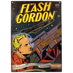 Join the great science fiction hero Flash Gordon on his quest to rid your walls of boredom with this Comic Cover Embossed Tin Sign⎜Open Road Brands Dc Comics Superheroes, Batman Comics, A Comics, Tin Signs, Wall Signs, Flash Gordon Comic, Jim Lee Batman, Comic Room, Greg Capullo