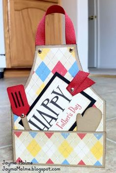 Give your grill-loving man this great handmade Father's Day card - purchase a kit to make it easy!