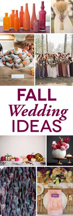 Fall Weddings Colors and Ideas That Don't Scream Halloween A Practical Wedding: We're Your Wedding Planner. Wedding Ideas for Brides, Bridesmaids, Grooms, and More