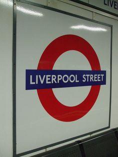 Liverpool Street London Underground Station in London, Greater London London Underground Train, London Underground Stations, London Bridge, London City, Cast Acrylic, Liverpool Street, Vintage London, Greater London, London Calling
