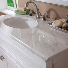 St Paul Brisbane 36 In Vanity White With Cast Polymers Top
