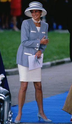Diana Princess of Wales - Viscount Linley's wedding 8 Oct 1993