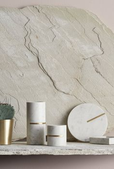 Marble with solid brass inlay. Capture Lachlan Moore, stylist Andrea Moore for Lightly. Copper And Marble, Globe Decor, Marble Texture, Decorative Objects, Decorative Bottles, Home Decor Accessories, Decoration, Interior Styling, Design Projects