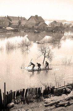 Спасавање села од поплаве код Босанског Брода 1947. године | Министарство одбране Републике Србије