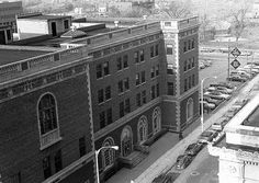 The old YWCA building, across from the Flint Journal, Flint, Michigan. Circa 1977.