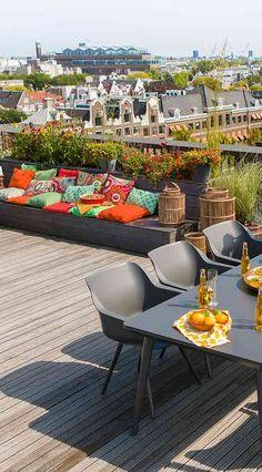 Garten orientalisch gestalten mit modernem Diningsessel  Sophie Studio von Hartmann