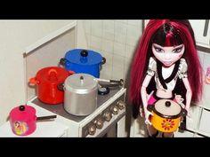 Como fazer Panela (de pressão, panelão e panelinha) para boneca Monster High, Barbie, etc - YouTube