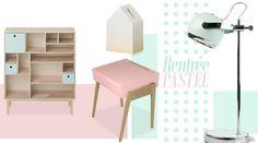 """Sélection """"spécial rentrée"""" par File dans ta chambre - My Little Pupitre - Bureau enfant de 3 à 6 ans - Bois massif - Chêne - Rose pastel  http://www.junglebyjungle.fr"""