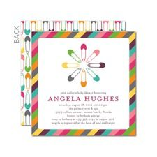 Colorful Pins: Begonia Baby Shower Invitations