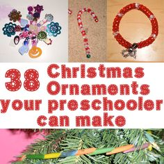 38 Christmas Ornaments Your Preschooler Can Make - We let our 4-year-old decorate a tree in her bedroom completely by herself. She loved it!