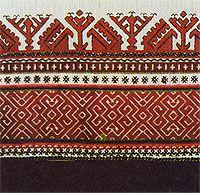 Traditional Mari El (Finno-Ugric folk in Russia) embroidery