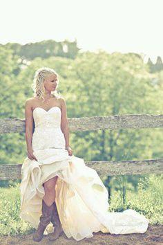 Yea, I'll wear cowgirl boots under my wedding dress. (: