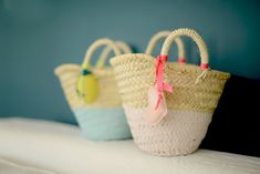 Spice up you shopping or beach basket - inspiration by Look tes paniers