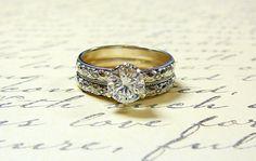 Nina Ring Vintage Engagement Sterling by EternalElementsShop