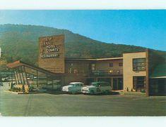 Unused 1950's OLD CARS & DRAKE MOTEL & RESTAURANT Chattanooga Tennessee TN u4509