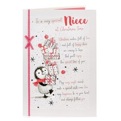 Christmas Card - Special Niece, Penguin | Card Factory