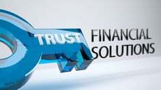 Trust Financial Solutions Logo - Perspective B 3DS MAX