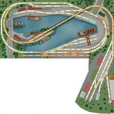 Der Kleine Hafen: H0 Gleisplan mit dem Märklin C-Gleis.