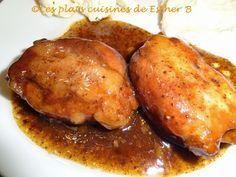 Poulet au sirop d'érable et au vinaigre balsamique (mijoteuse)