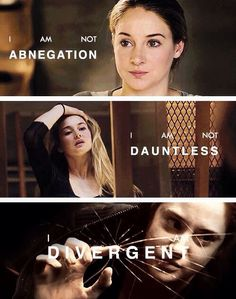 """I feel like someone breathed new air into my lungs. I am not abnegation. I am not dauntless. I am divergent. And I can't be controlled. Divergent Memes, Divergent Hunger Games, Divergent Fandom, Divergent Trilogy, Divergent Insurgent Allegiant, Insurgent Quotes, Divergent 2014, Shailene Woodley, Veronica Roth"
