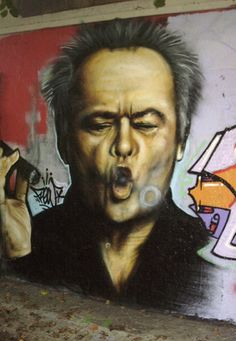 Jack Nicholson~Great street art!