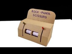How to win at rock paper scissors? Simply see our awesome tutorial: How to make a cardboard Rock Paper Scissors game slot Play Machine DIY, and see how does . Rock Paper Scissors, Toy Rooms, Diy Games, Cardboard Crafts, Machine Design, Slot Machine, Diy Videos, Diy Tutorial, Ideas