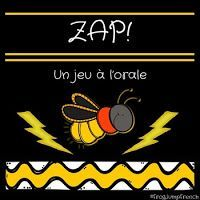 Un jeu a l'orale pour la rentree // ZAP! by Frog Jump French I Love School, Back To School, School Stuff, Teaching Tools, Teaching Resources, Communication Orale, French Practice, Core French, French Classroom