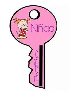 Hola a todos, comparto con ustedes este material son unos permisos para imprimir en forma de llave para niños, niñas
