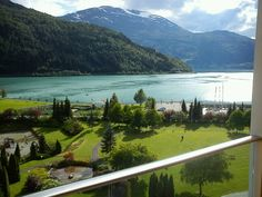 View from my room at Hotel Alexandra in Loen, Norway