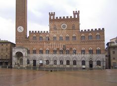 The Palazzo Pubblico is a palace in Siena, Tuscany, central Italy. Construction began in 1297 and its original purpose was to house the republican government, consisting of the Podestà and Council of Nine