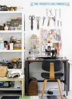 dcoracao.com - blog de decoração: Ideias para quarto (ou canto) de costura