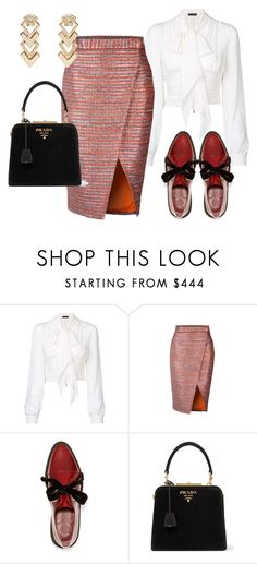 """Skirt"" by marocaine-evazahourova on Polyvore featuring Plein Sud, Marc by Marc Jacobs, Prada and Versace"