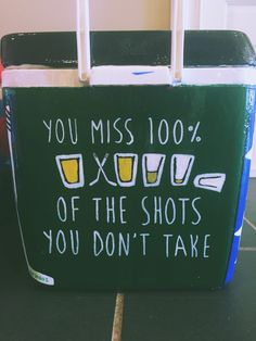 Painted Fraternity Coolers, Frat Coolers, Fraternity Crafts, Formal Cooler Ideas, Beer Pong Tables, Cooler Painting, Paddles, Diy Projects To Try, Hockey