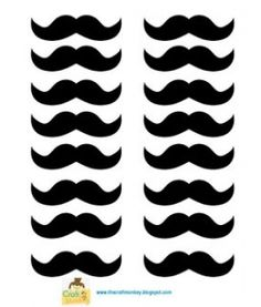 Cate's Magnificent Mustaches moustache printable template
