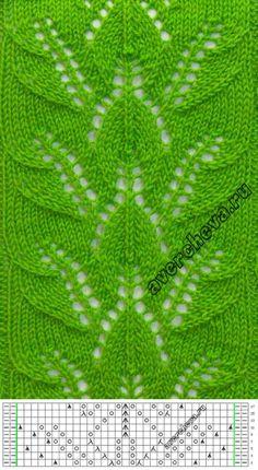 узор для вязания спицами   каталог вязаных спицами узоров... ♥ Deniz ♥