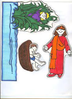 Baby Moses Story and visuals