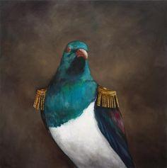 "Joanna Braithwaite ""The world of Joanna Braithwaite's painting is part menager. Nz Art, Pop Surrealism, Whimsical Art, Bird Art, Figure Painting, Pet Portraits, Vintage Images, Pet Birds, Wearable Art"