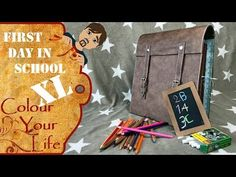 Scrapbook Fotoalbum for First Day at school - not XXL but XL DIY - YouTube
