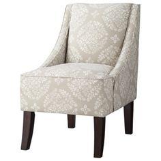 Threshold™ Swoop Chair - Tan/White Medallion