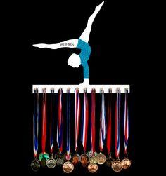 Gymnastics medal hanger | medal holder | award hangers | award displays :: should have had one of these!!!