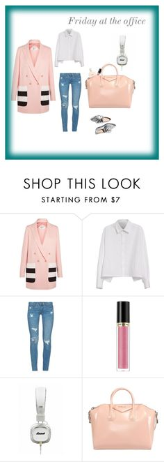 """""""Friday At The Office"""" by experienceheadphones on Polyvore featuring MaxMara, Loeffler Randall, Y's by Yohji Yamamoto, BLANKNYC and Revlon"""
