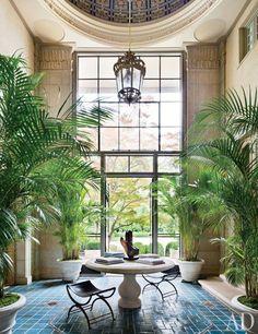 The domed Atrium of Villa Maria, ca. 1919 Long Island mansion...