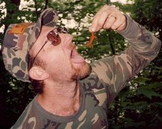 """#1: As a child I was a prankster.I created this photo by asking my girlfriend to take this picture of me pretending to eat a red salamander, utilizing the """"Play"""" personality of a joker. As my girlfriend took the picture using cooperative """"Play""""."""