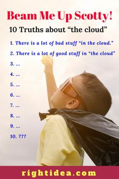 """There is a lot of bad stuff available """"in the cloud."""" There is a lot of good stuff in """"the cloud"""" on the Internet. """"Cloud"""" services have great advantages and some disadvantages. Check out this post for more insight The Real World, Beams, Insight, Internet, Tech, Clouds, Technology, Exposed Beams, Cloud"""