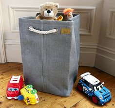 Buy the Toy Storage Bag, Charcoal from Zone today! A part of our Toy Storage Boxes range. Lego Storage Boxes, Toy Storage Bags, Toy Boxes, Boy Room, Jute, Hand Painted, Toys, Grey, Organizers