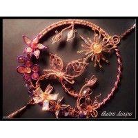 suncatcher copper/purple with butterfly