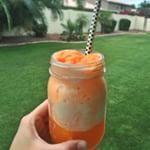 Summertime Orange Fanta Floats with my 12 year old  #icecream #pickypalate #yummy #instagood #instayum #happy #orangefloat #food #summertime